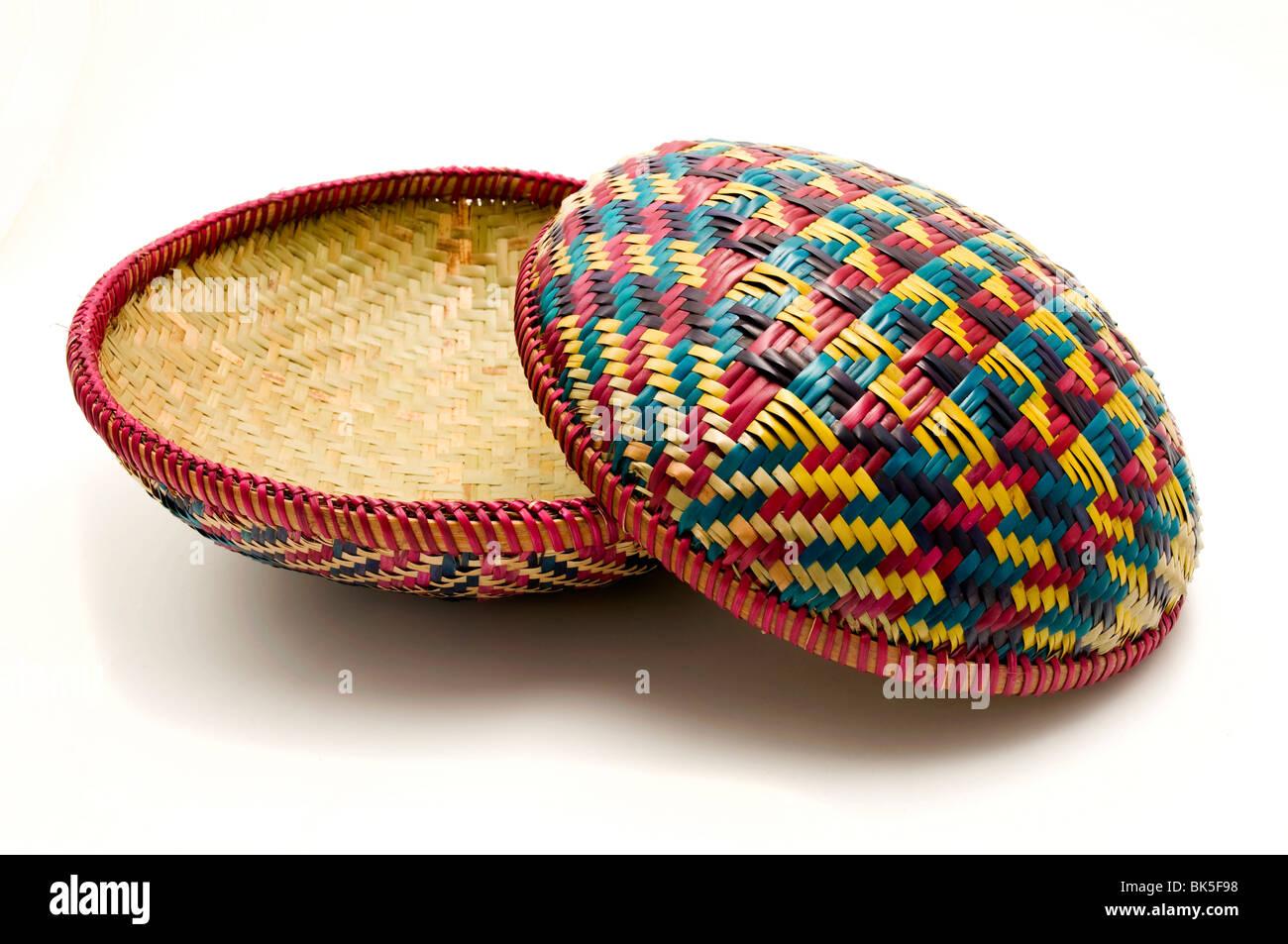 Bhutanese handmade basket - Stock Image