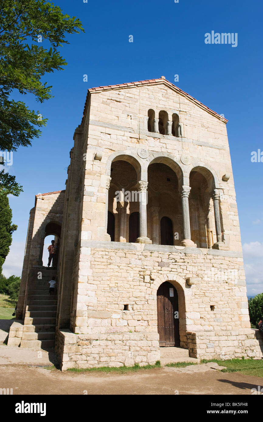 Santa Maria de Naranco, 9th century pre-romanesque style, UNESCO World Heritage Site, Oviedo, Asturias, Spain, Europe - Stock Image