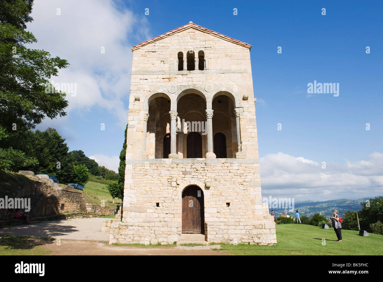 Santa Maria de Naranco, 9th century pre-romanesque style, UNESCO World Heritage Site, Oviedo, Spain, Europe Stock Photo
