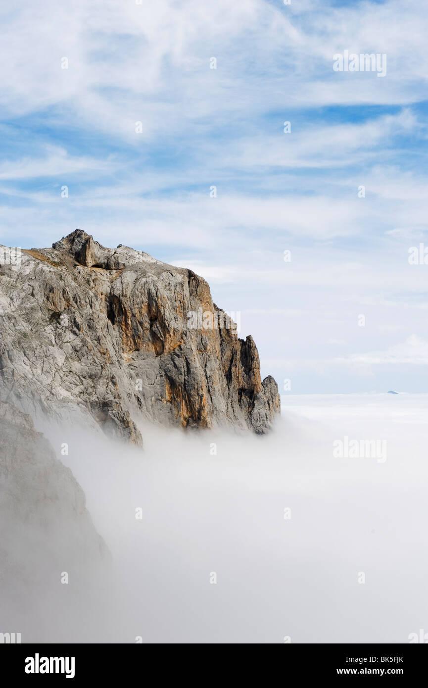 Picos de Europa National Park, shared by the provinces of Asturias, Cantabria and Leon, Spain, Europe - Stock Image