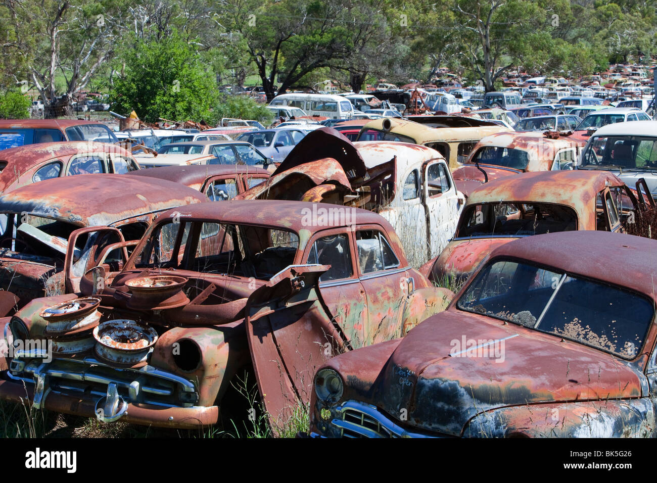 Flynns wrecking yard near Cooma in New South Wales