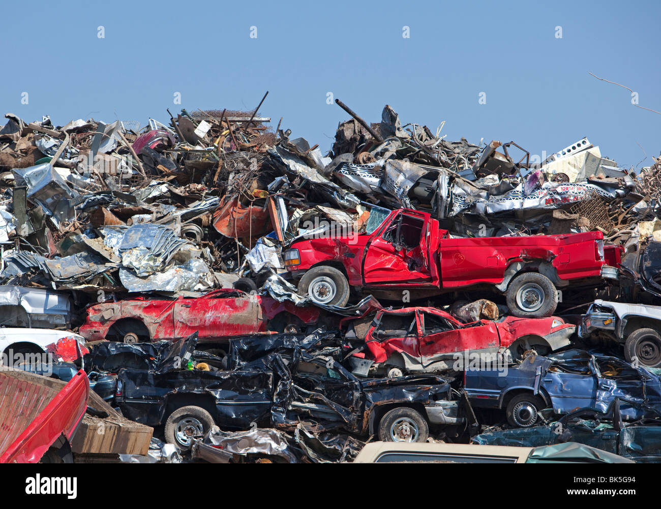 Junk Cars Detroit >> Detroit Michigan Junk Cars Crushed And Ready For Recycling At A