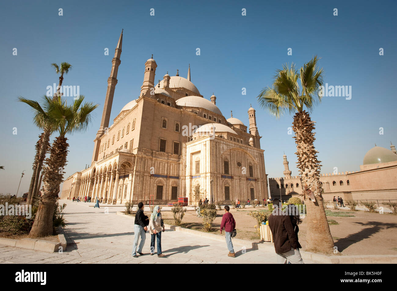 The Mosque of Muhammad Ali at the Citadel, Cairo, Egypt, North Africa, Africa - Stock Image