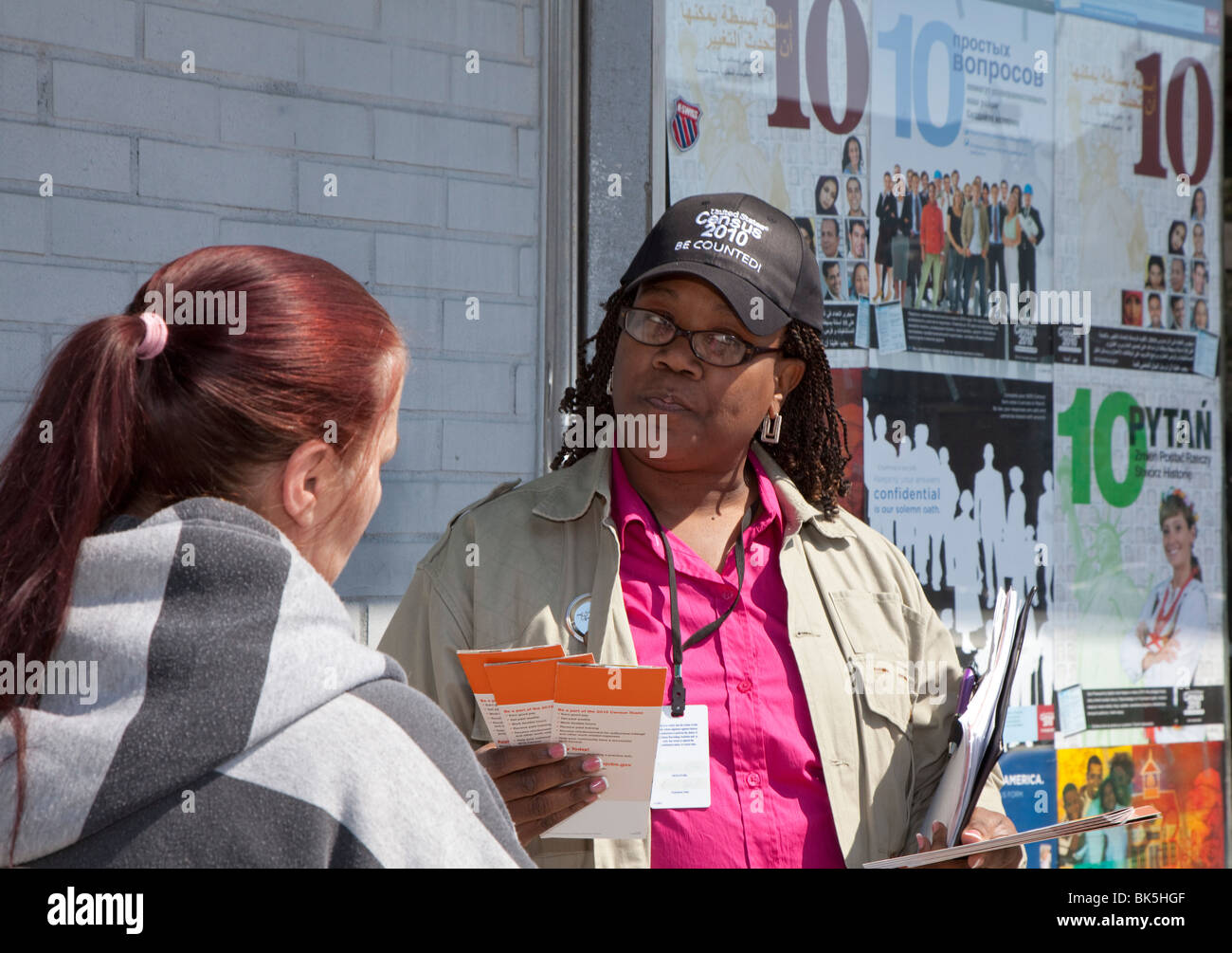 Census Worker - Stock Image