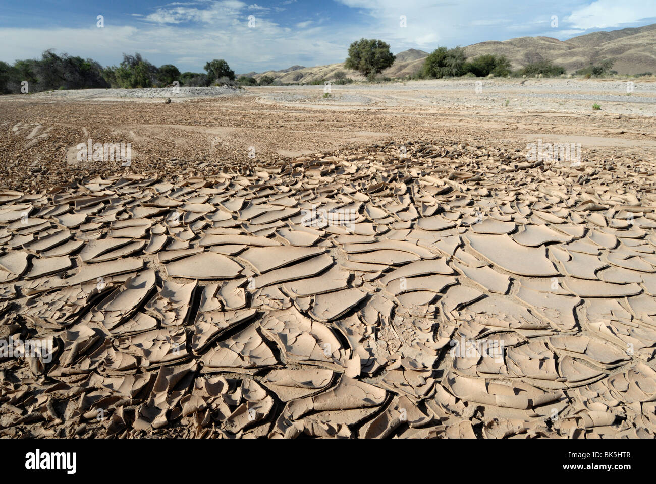Dried river bed, Kaokoland, Namibia, Africa Stock Photo