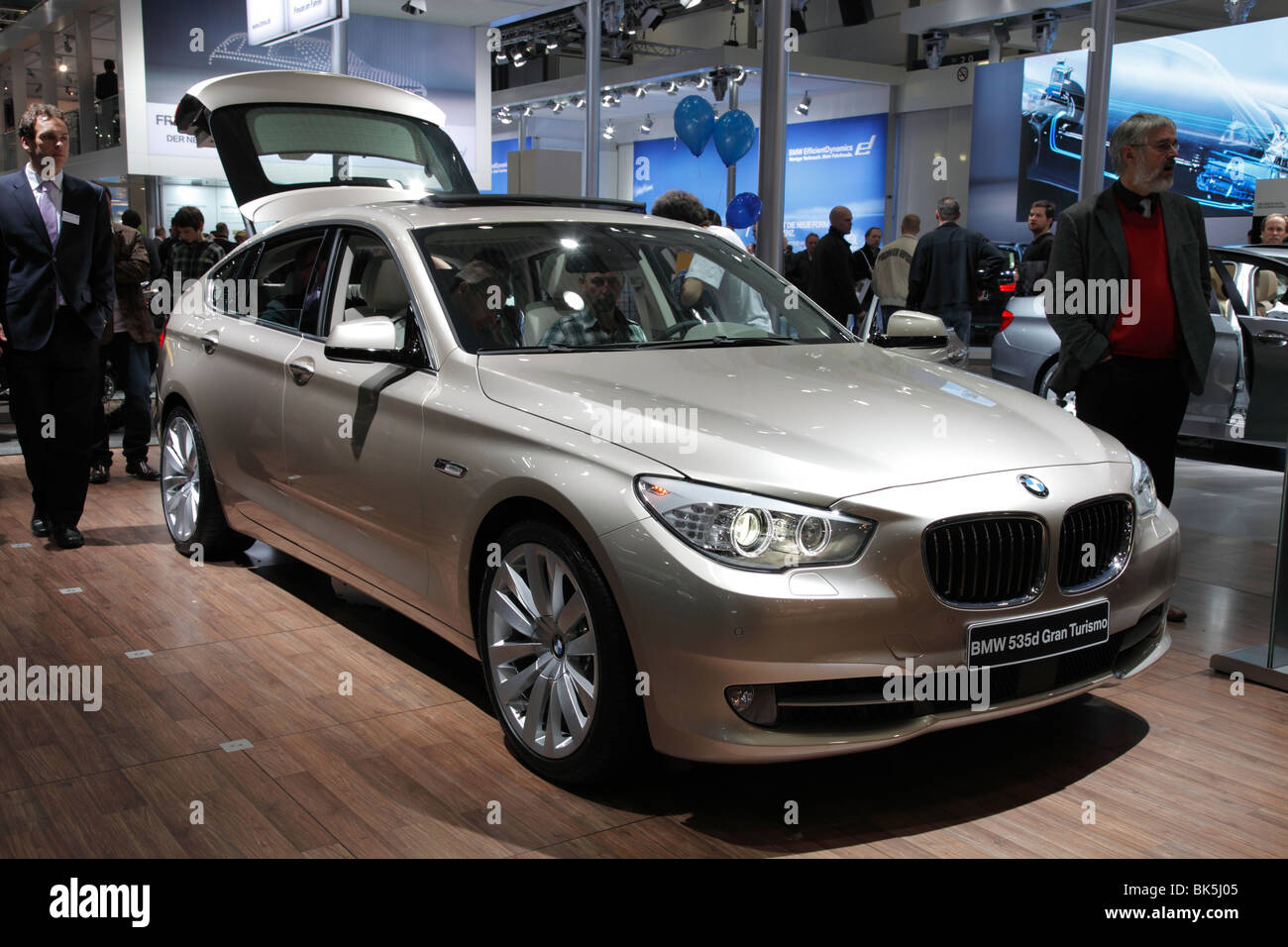 BMW 535d Gran Turismo at the Auto Mobil International (AMI); Motor Show 2010 in Leipzig, Germany - Stock Image