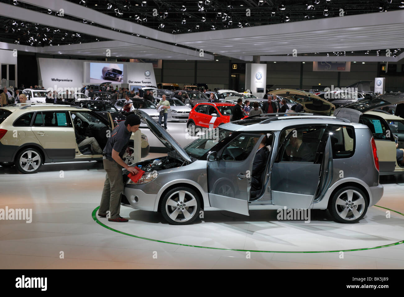 Skoda Roomster at the Auto Mobil International (AMI) - Motor Show 2010 in Leipzig, Germany - Stock Image