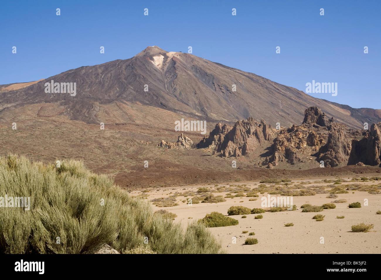 Mount Teide from Llano de Ucanca, Tenerife, Canary Islands, Spain, Europe - Stock Image