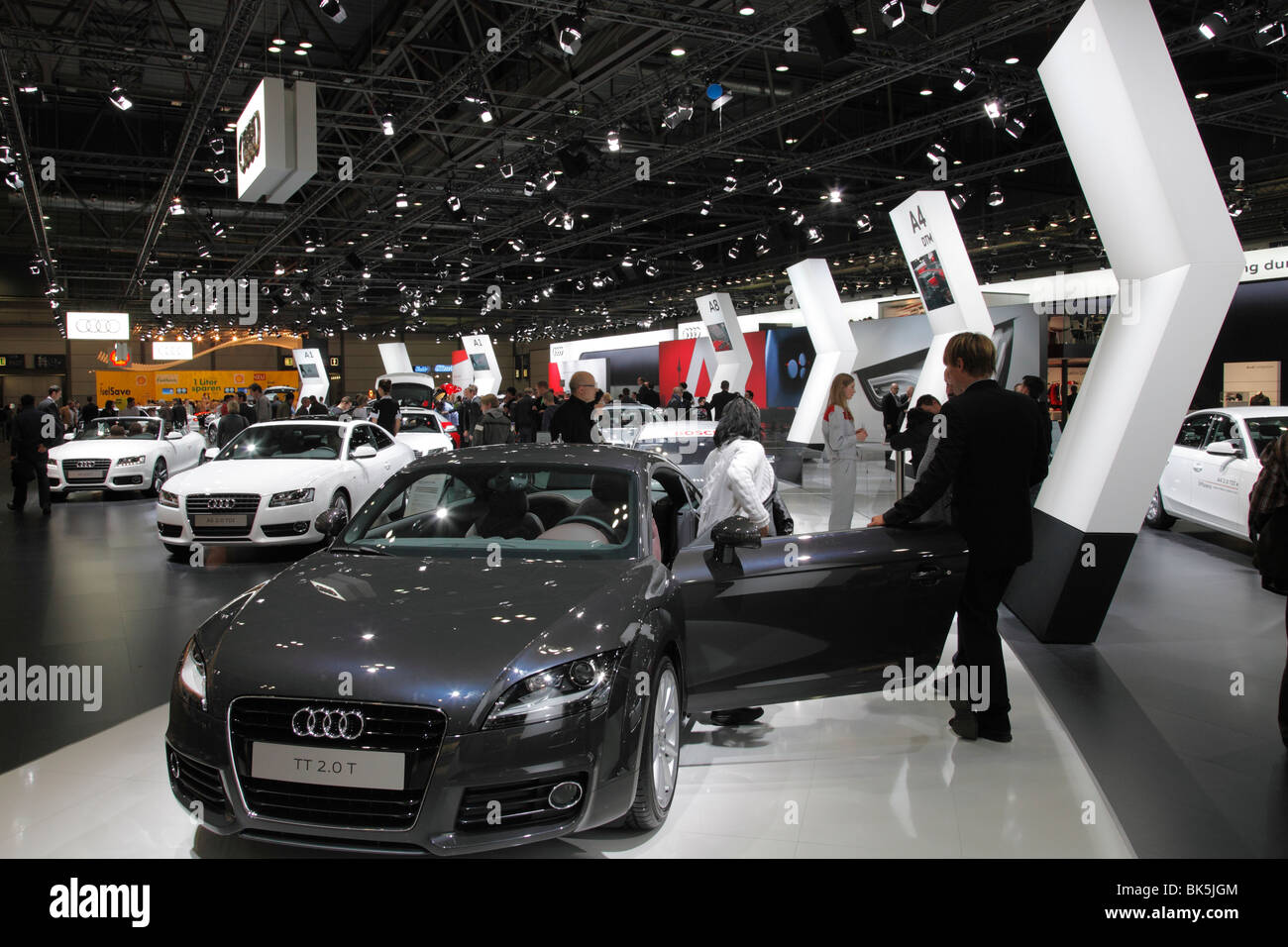AUDI TT 2.0 T at the Auto Mobil International (AMI) - Motor Show 2010 in Leipzig, Germany - Stock Image
