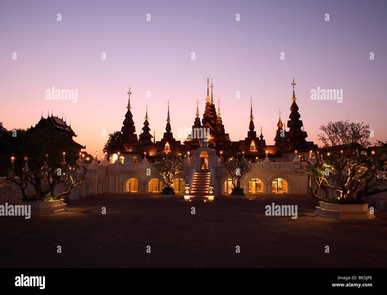 Lobby at the Mandarin Oriental Dhara Dhevi, Chiang Mai, Thailand, Southeast Asia, Asia - Stock Image