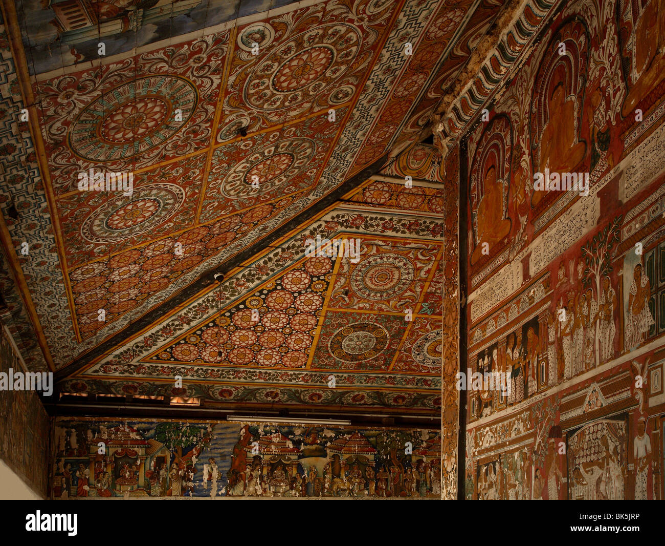 Ceiling Of The Image House, Subodharama Temple, Dating From The Mid 19th  Century, Dehiwala, Colombo, Sri Lanka, Asia