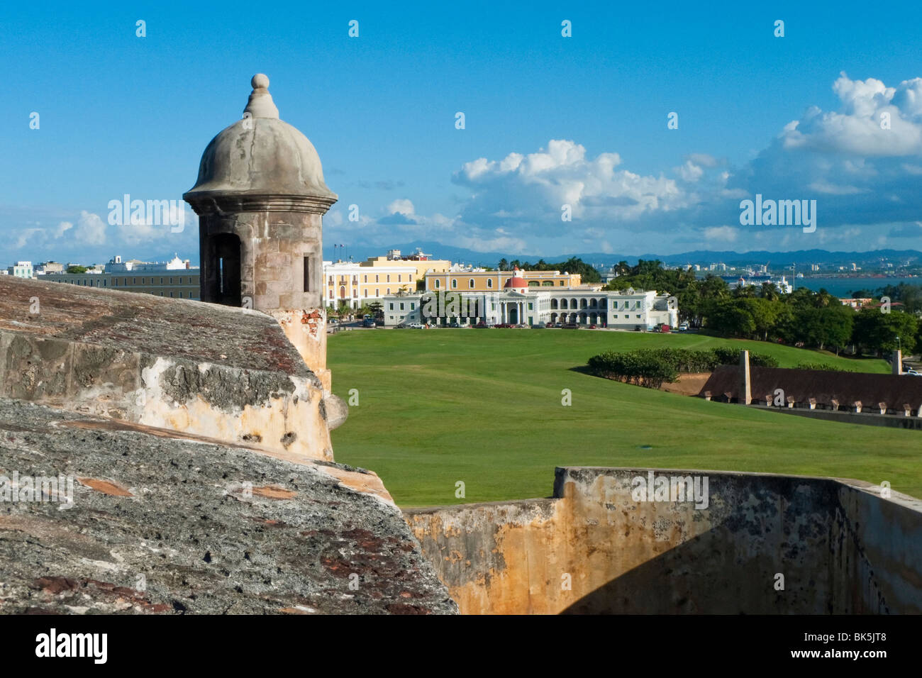 View of Old San Juan from the El Morro Fort, Puerto Rico - Stock Image