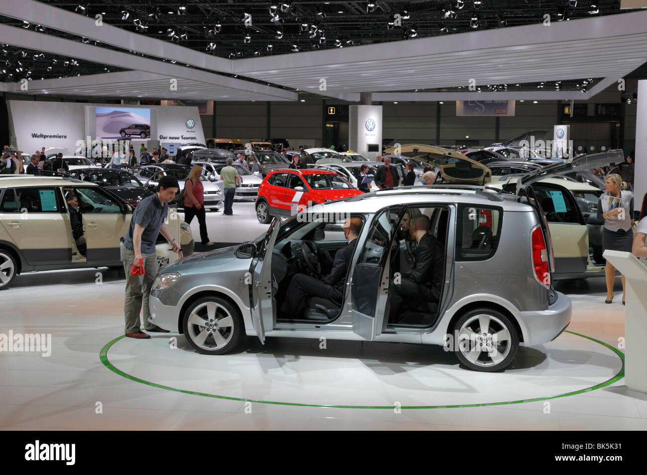 Skoda Roomster at the Auto Mobil International (AMI) - the Motor Show 2010 in Leipzig, Germany - Stock Image