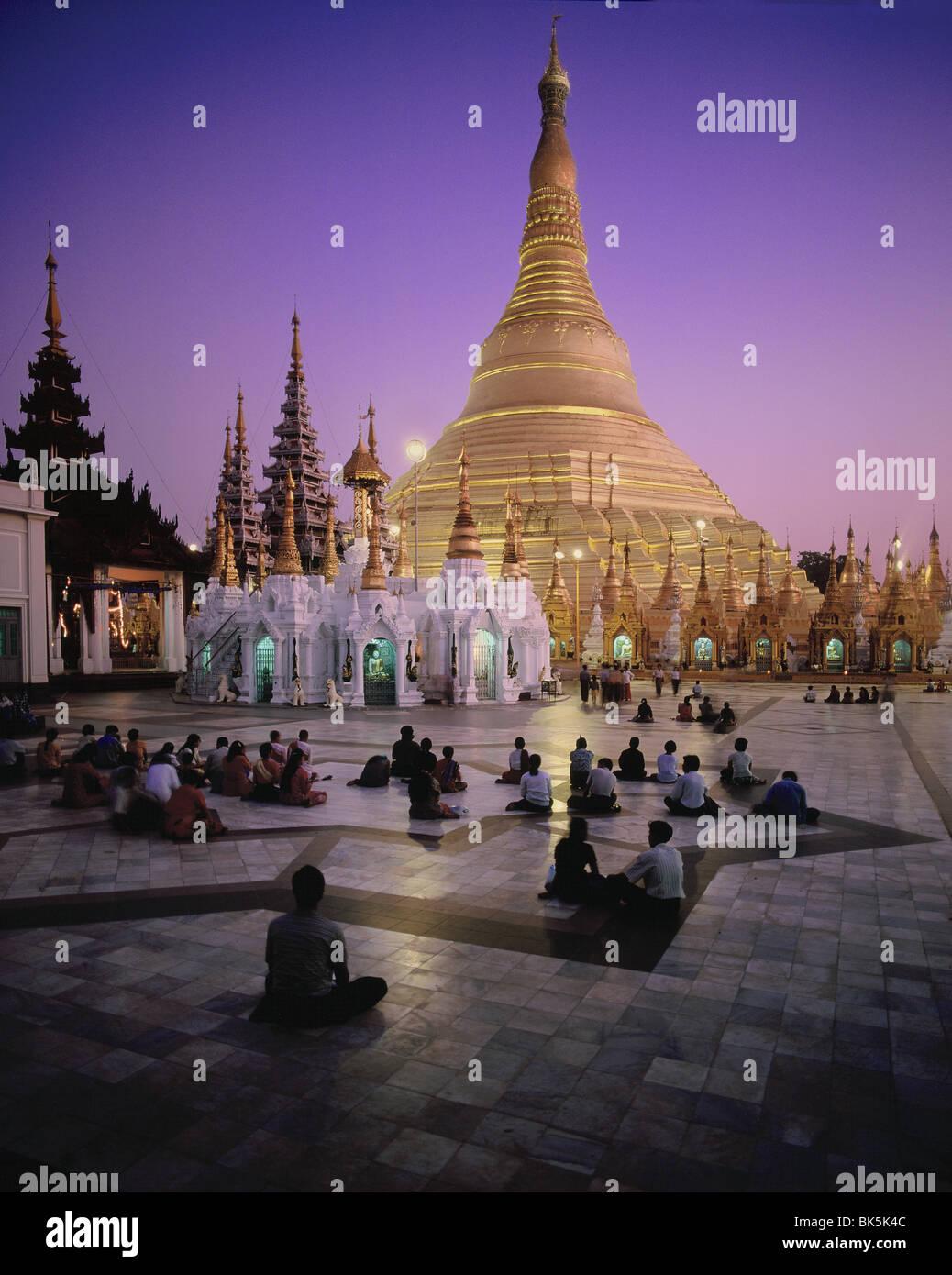 Shwedagon Pagoda, Yangon (Rangoon), Myanmar (Burma), Asia Stock Photo