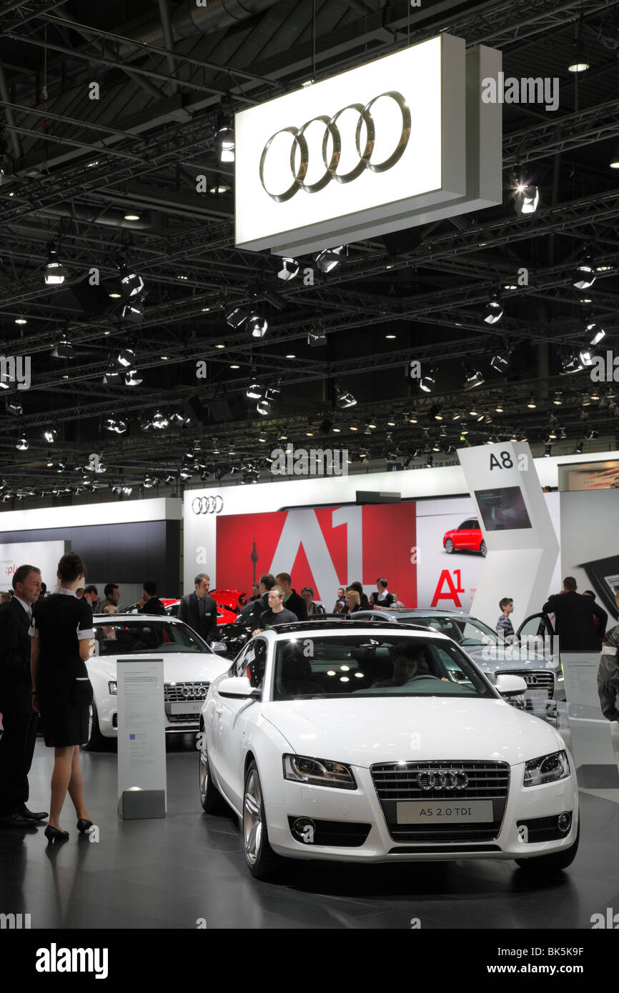 AUDI A5 2.0 TDI at the Auto Mobil International (AMI) - Motor Show 2010 in Leipzig, Germany - Stock Image