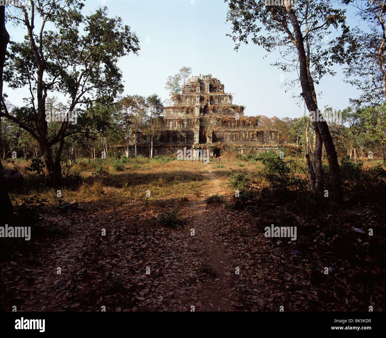 Prang Prasathom, dating from the 10th century, Koh Ker, Cambodia, Indochina, Southeast Asia, Asia - Stock Image