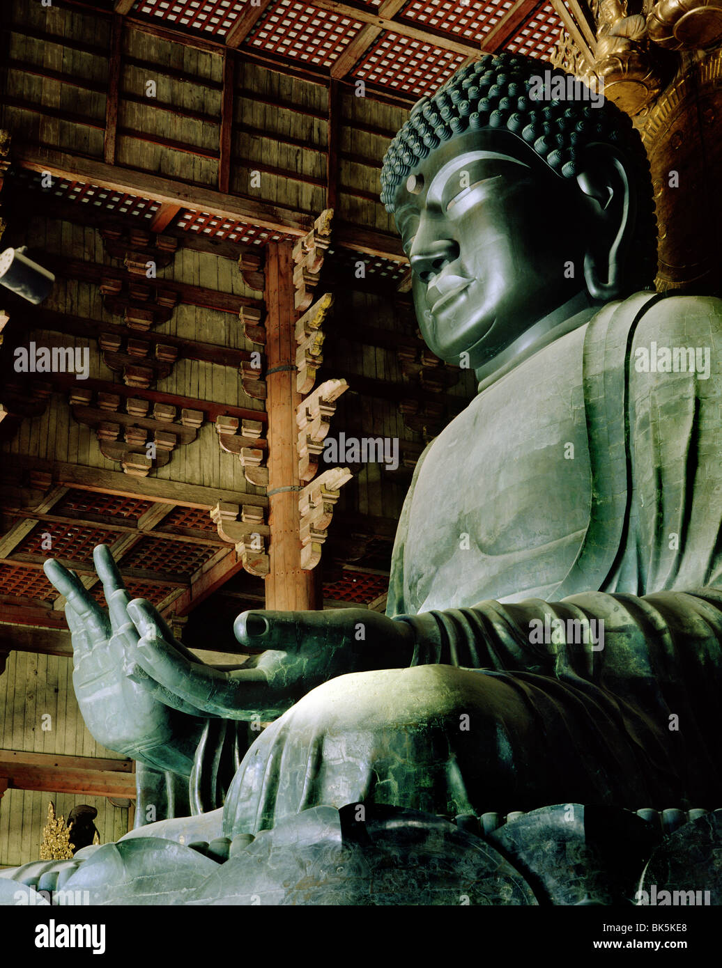 Todaiji (Great Eastern Temple), the world's largest wooden building, Nara, UNESCO World Heritage Site, Japan Stock Photo