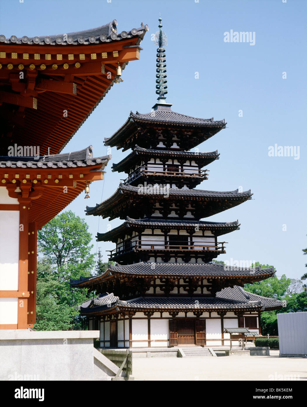 Yakushiji Temple, constructed by Emperor Temmu in the late 7th century, Nara, UNESCO World Heritage Site, Japan, - Stock Image