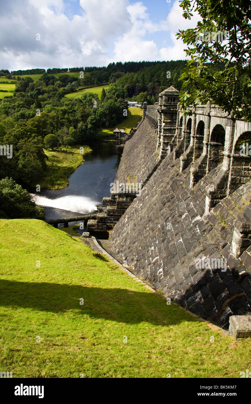 The dam at Lake Vernwy in North Wales is a magnificent architectural structure. The water supplies the  needs of - Stock Image