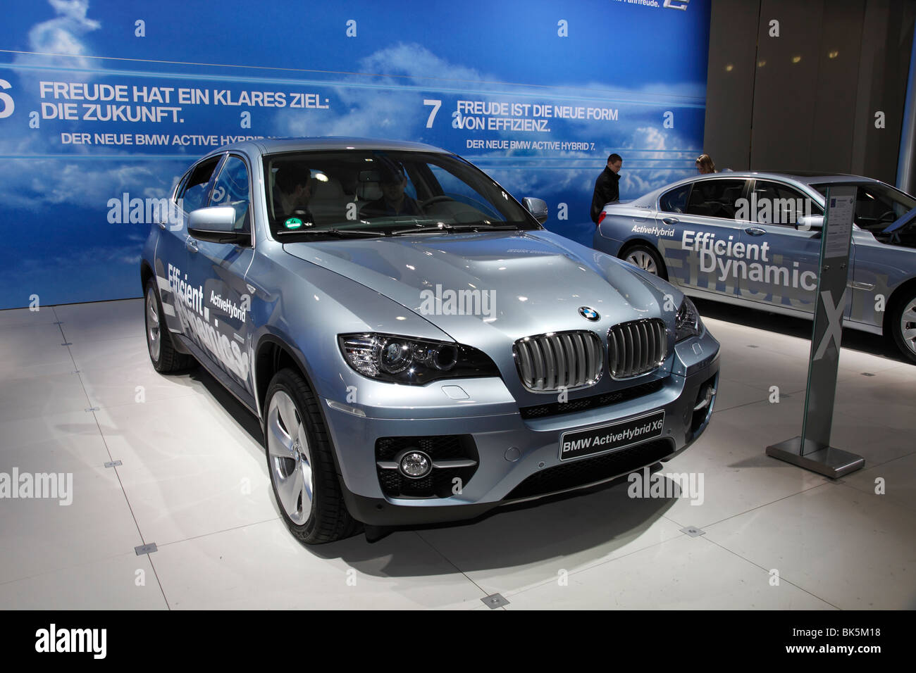 BMW ActiveHybrid X6 at the Auto Mobil International (AMI); Motor Show 2010 in Leipzig, Germany - Stock Image