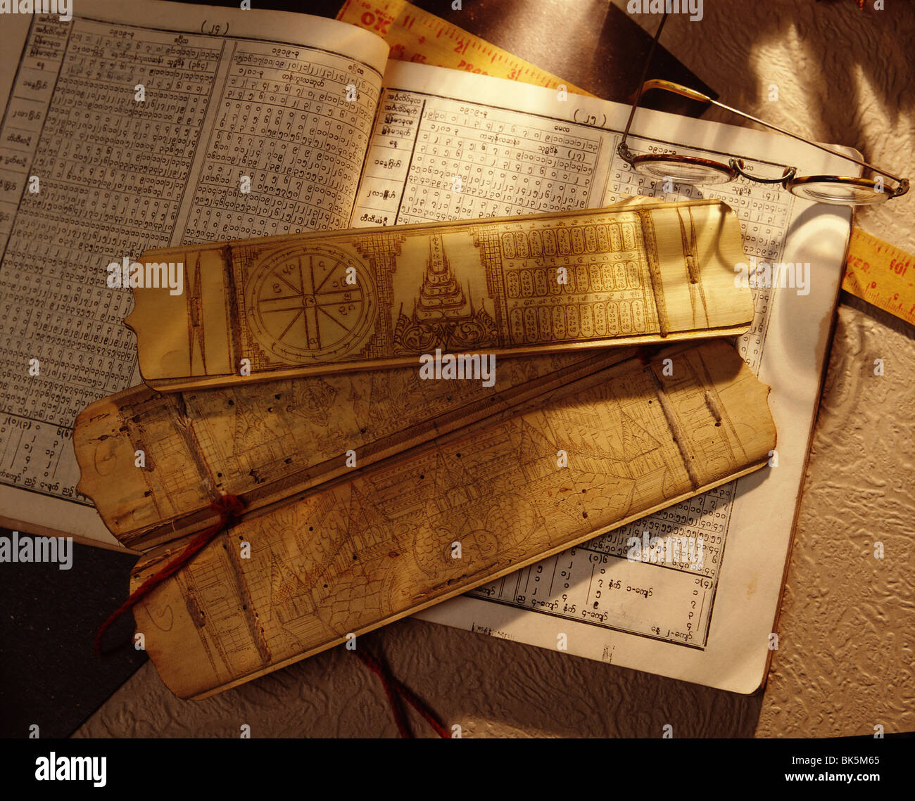 Astrology books, Myanmar (Burma), Asia Stock Photo: 29014445