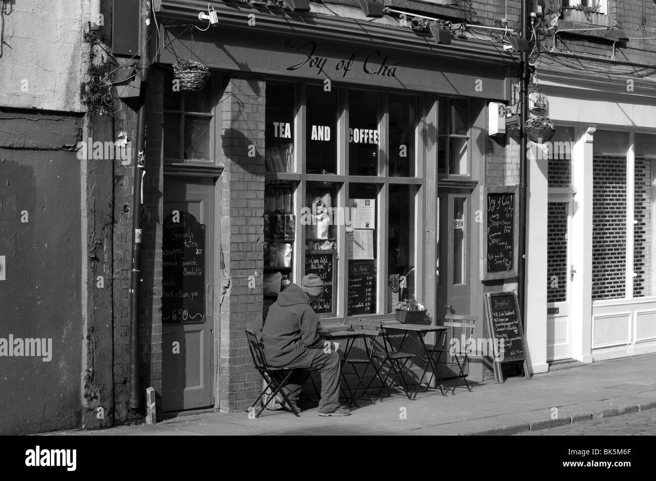 Tea shop, Temple Bar, Dublin - Stock Image