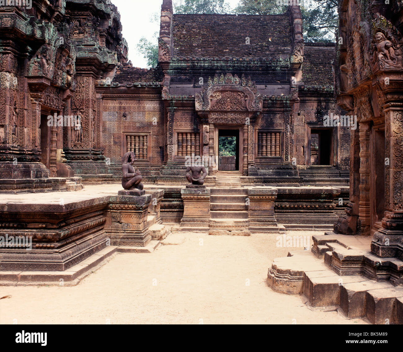 Banteay Srei, dating from the second half of the 10th century, Angkor, UNESCO World Heritage Site, Cambodia - Stock Image