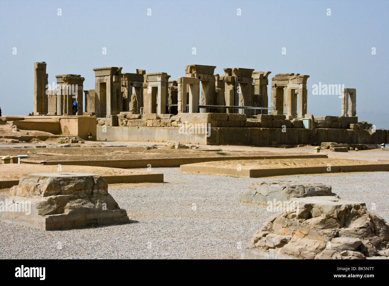 Palace of Darius in Persepolis, Iran - Stock Image