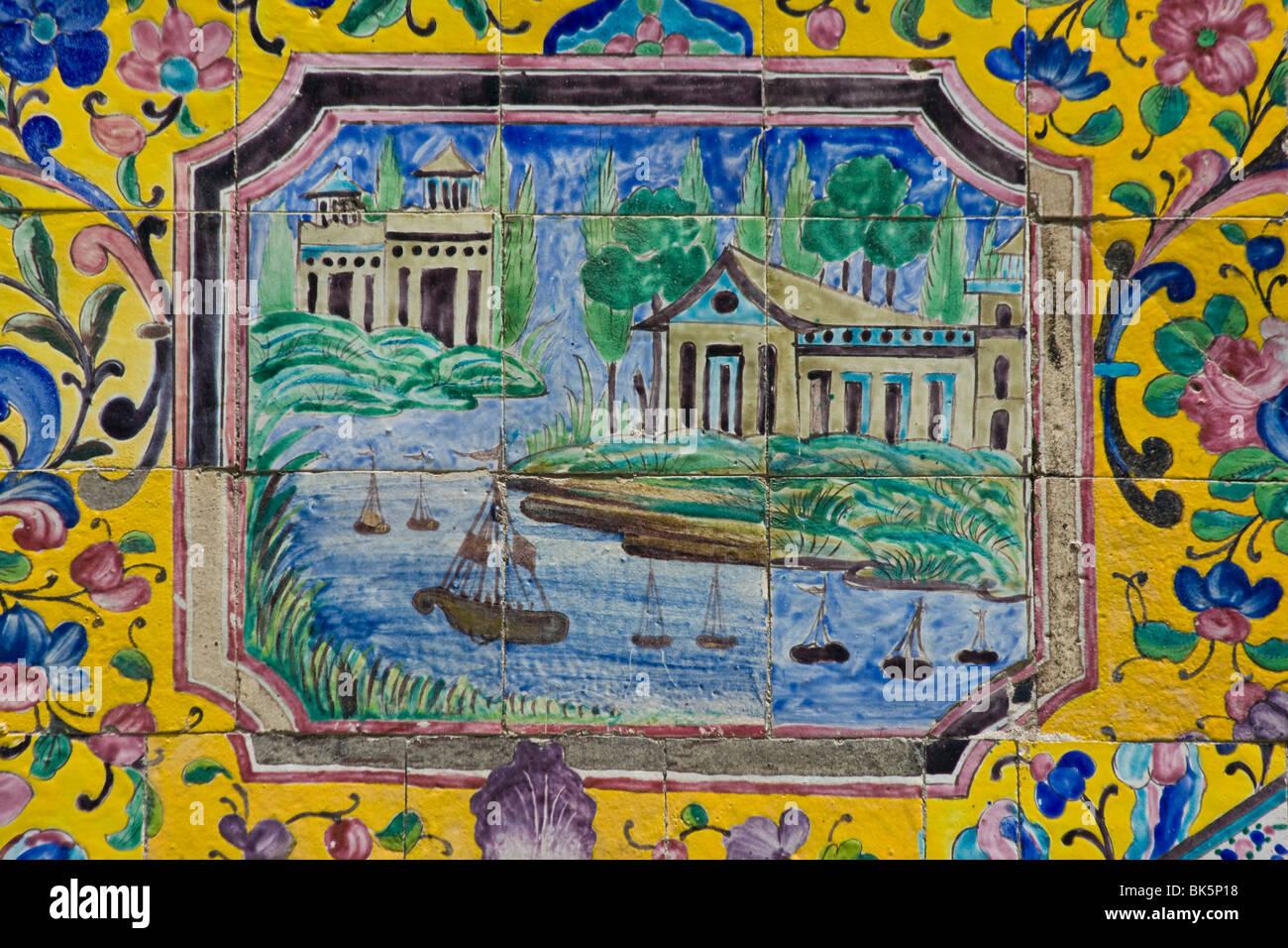 Ceramic Tile Detail Golestan Palace Stock Photos & Ceramic Tile ...