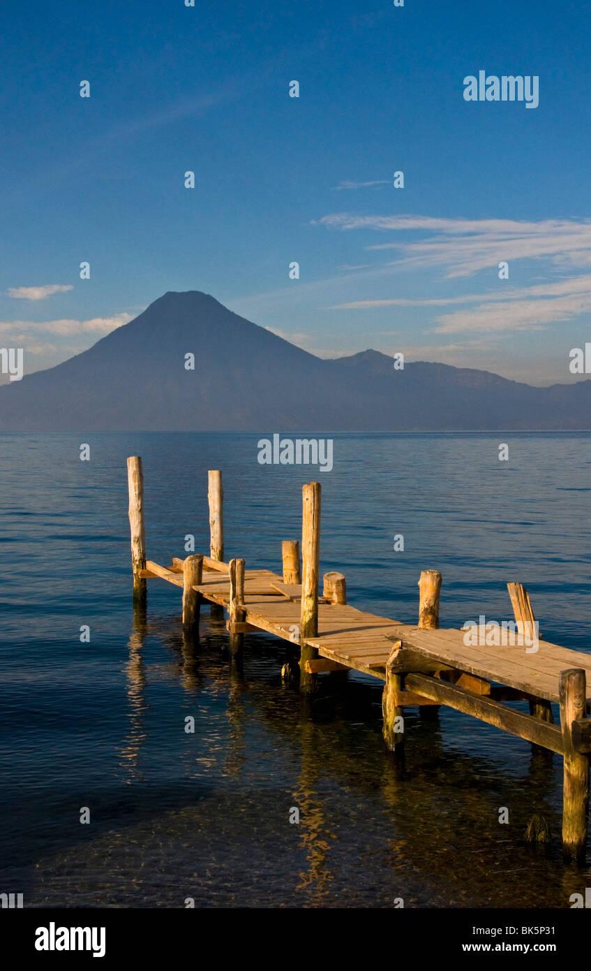 Panajachel Harbor  Lake Atitlan Guatemala - Stock Image