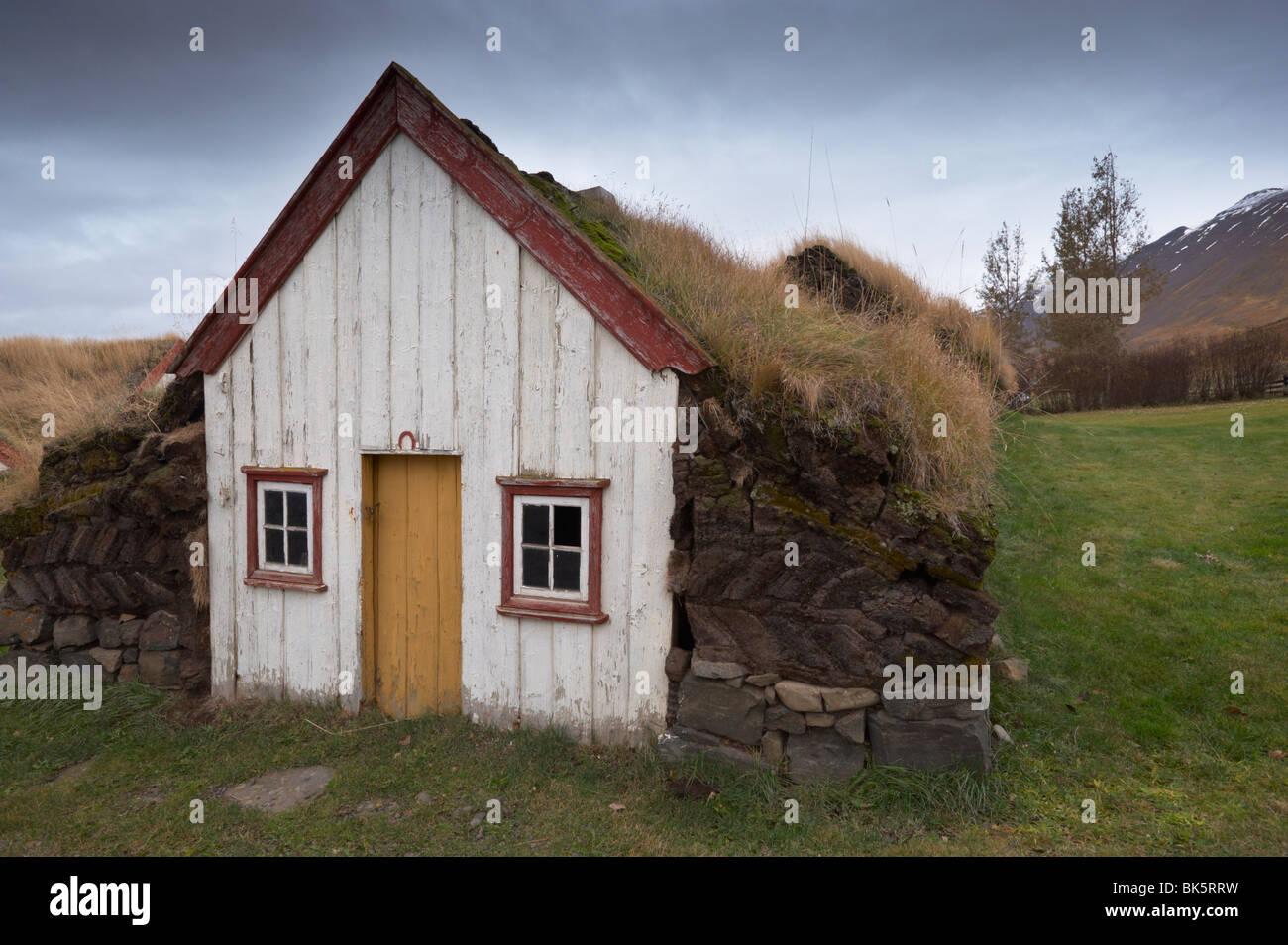 Laufas historic farmstead, north of Akureyri, Iceland, Polar Regions - Stock Image