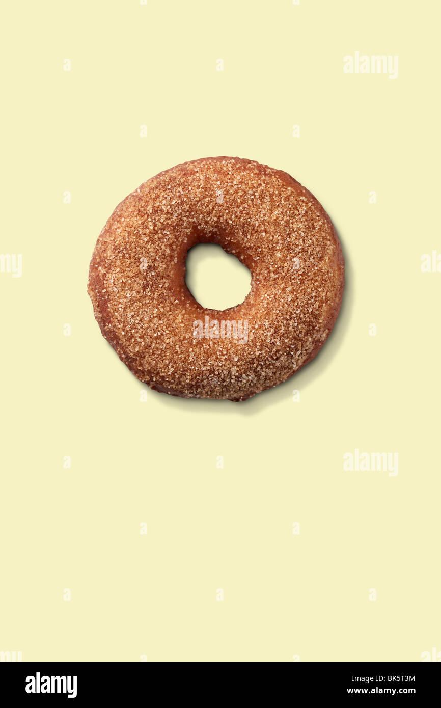 Cinnamon Donut Stock Photo