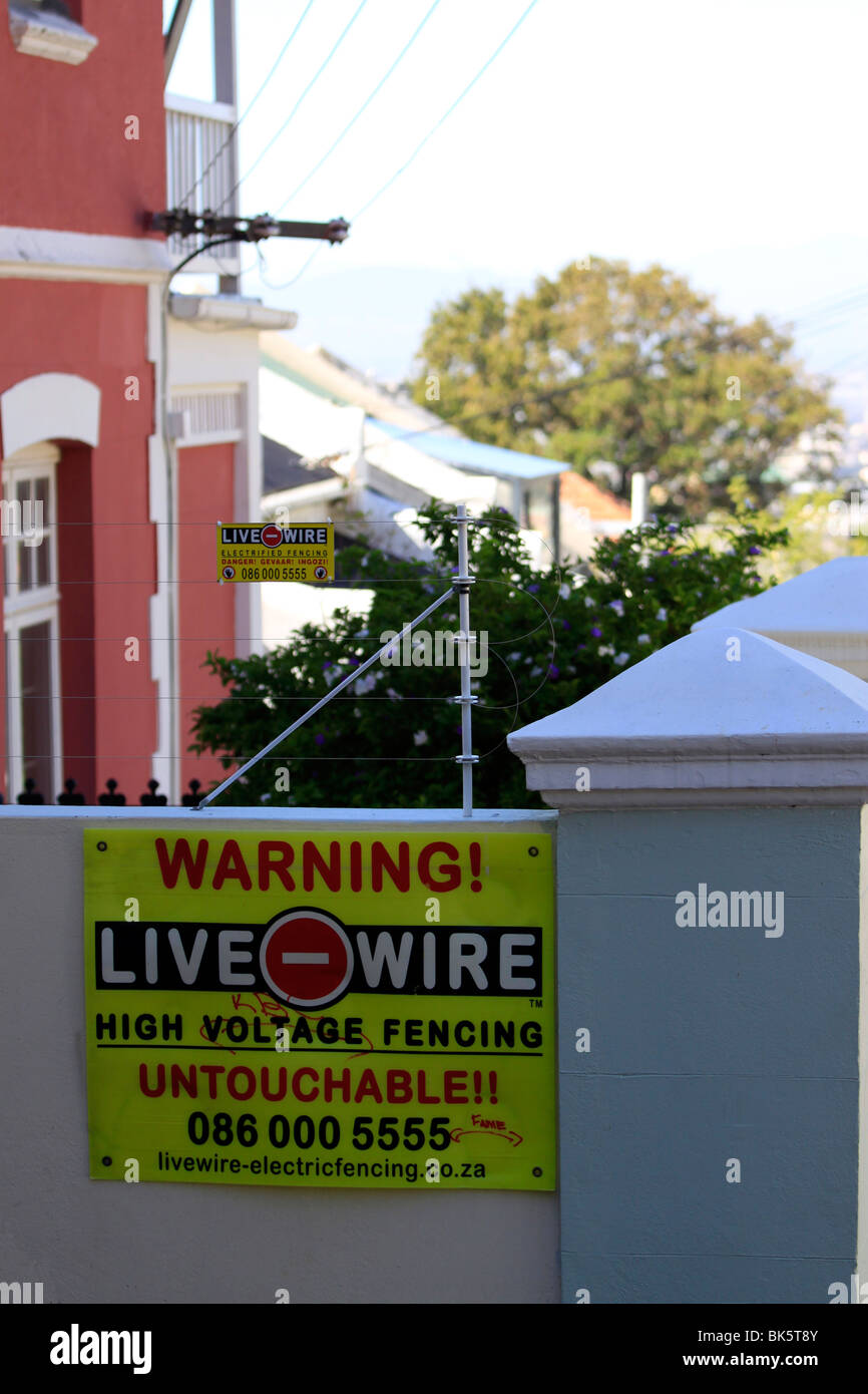 Electric Fence Africa Stock Photos Wiring A House In South Fencing Around Property Cape Town Image