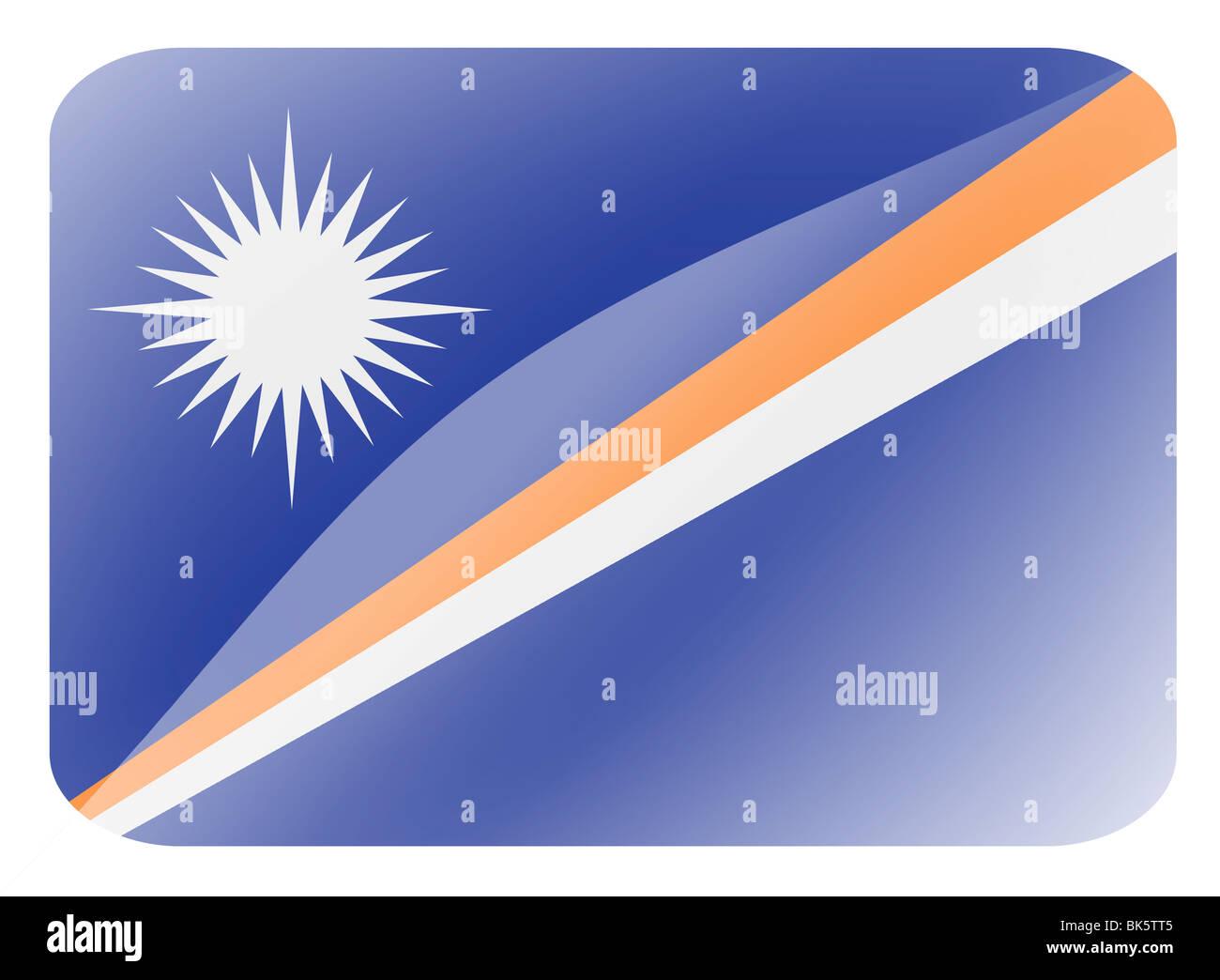 Marshall Islands flag - Stock Image