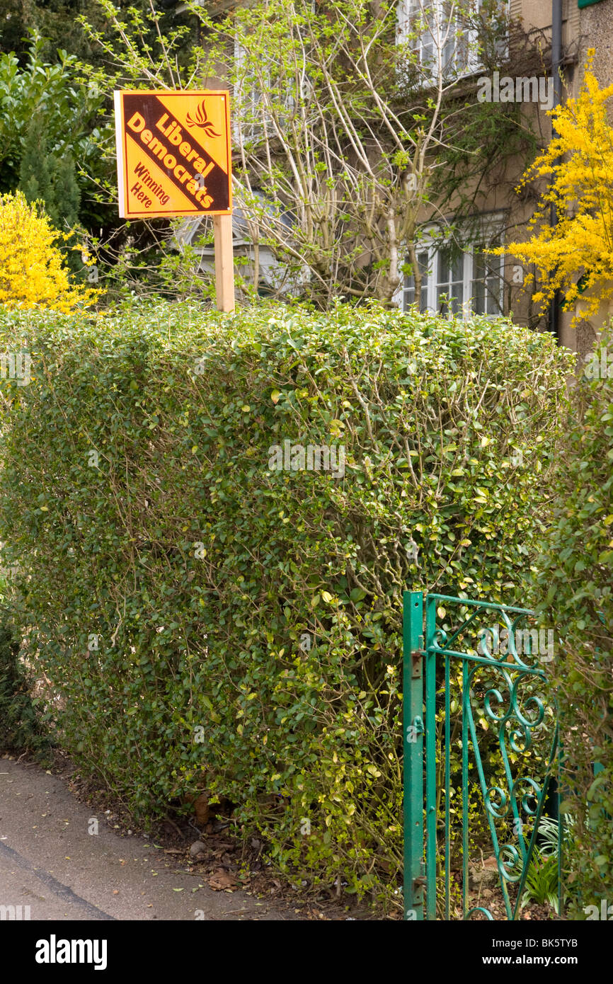 Liberal Democrat Sign - Stock Image
