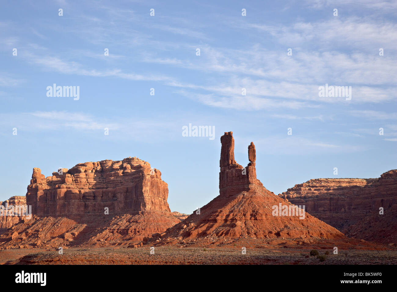 Rock formations, Valley of the Gods, Utah, United States of America, North America - Stock Image