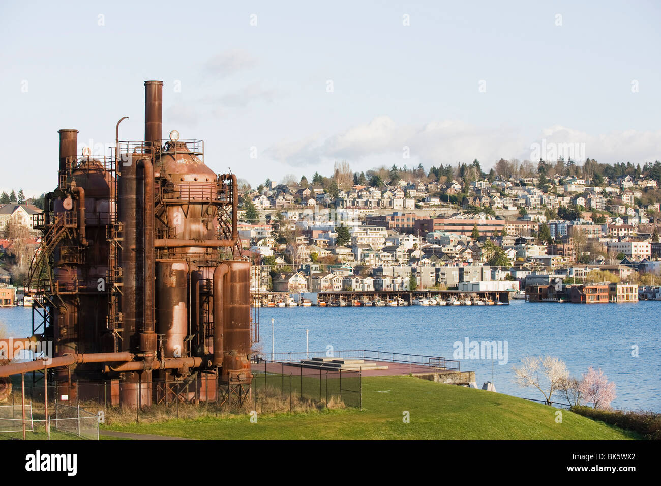 Gas Works Park, Lake Union, Seattle, Washington State, United States of America, North America Stock Photo