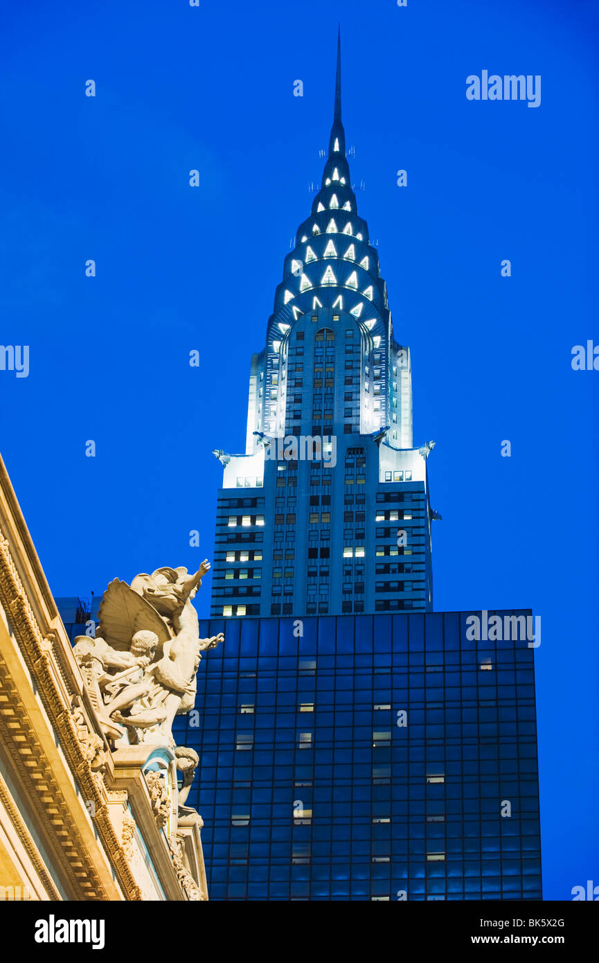 Chrysler Building at Grand Central Station, Manhattan, New York City, New York, United States of America, North - Stock Image