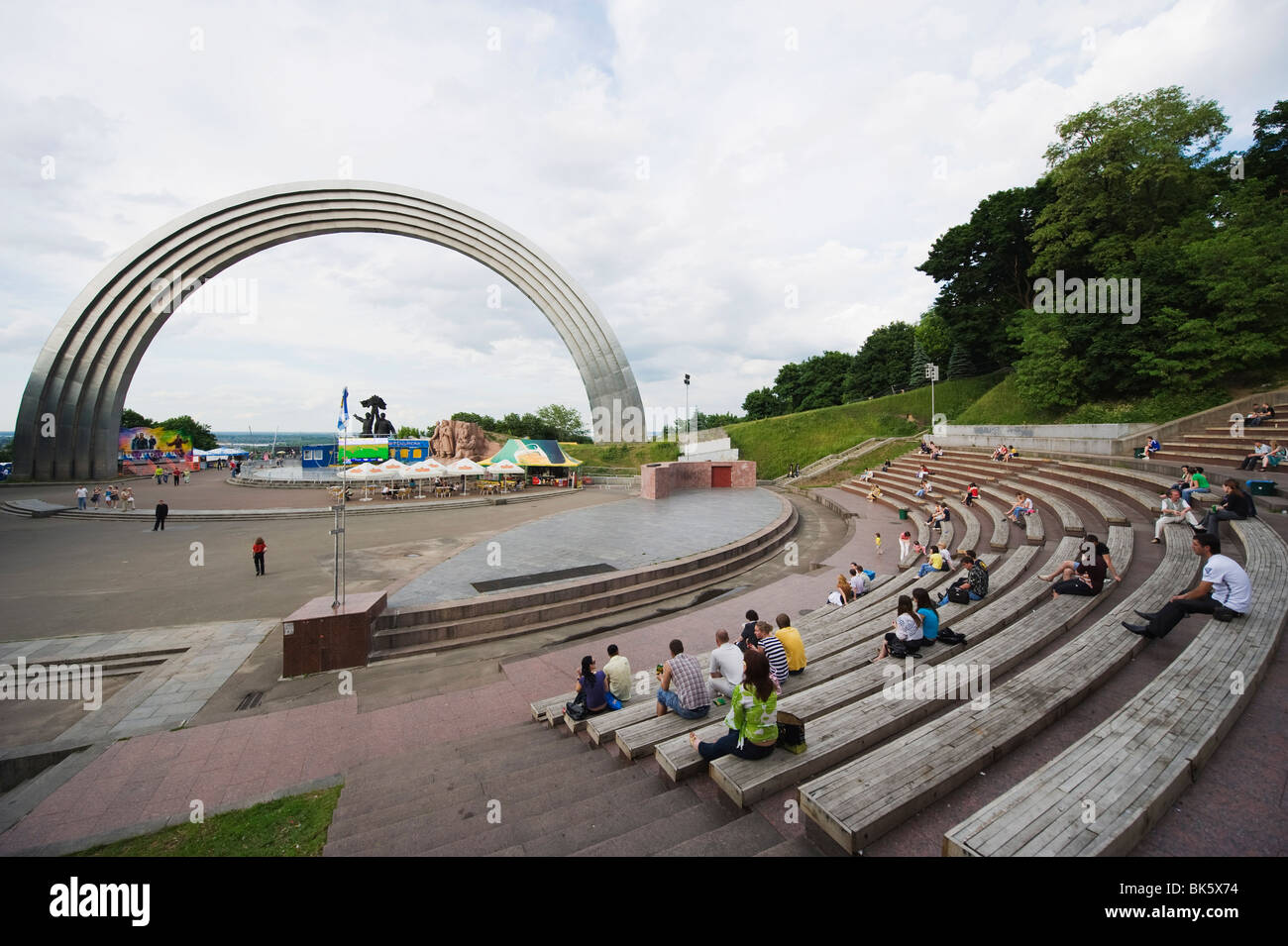 Rainbow Arch, Friendship of Nations Monument, Kiev, Ukraine, Europe - Stock Image