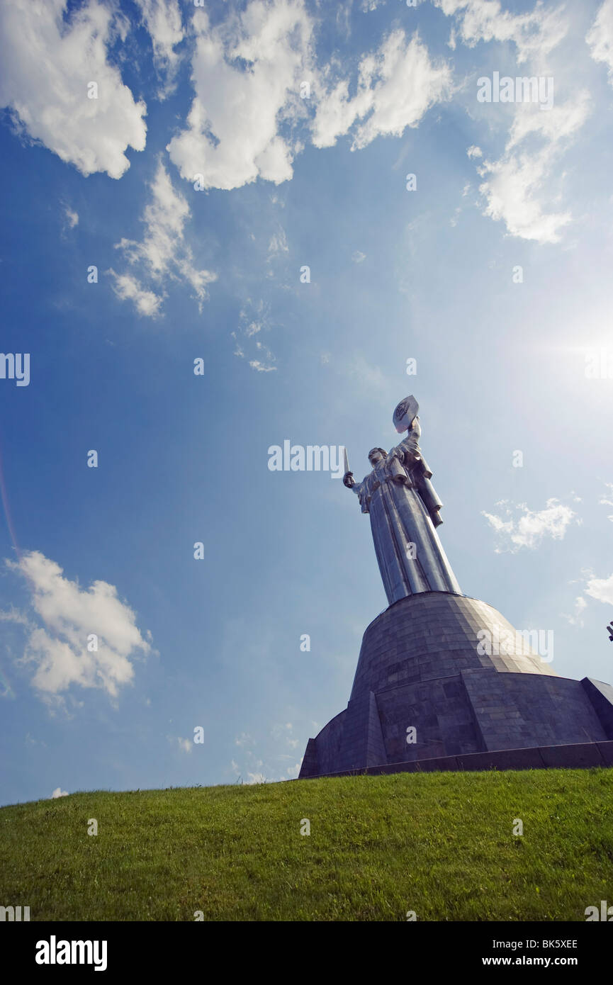 Rodina Mat, Nations Mother Defense of the Motherland monument, Museum of the Great Patriotic War, Kiev, Ukraine, - Stock Image