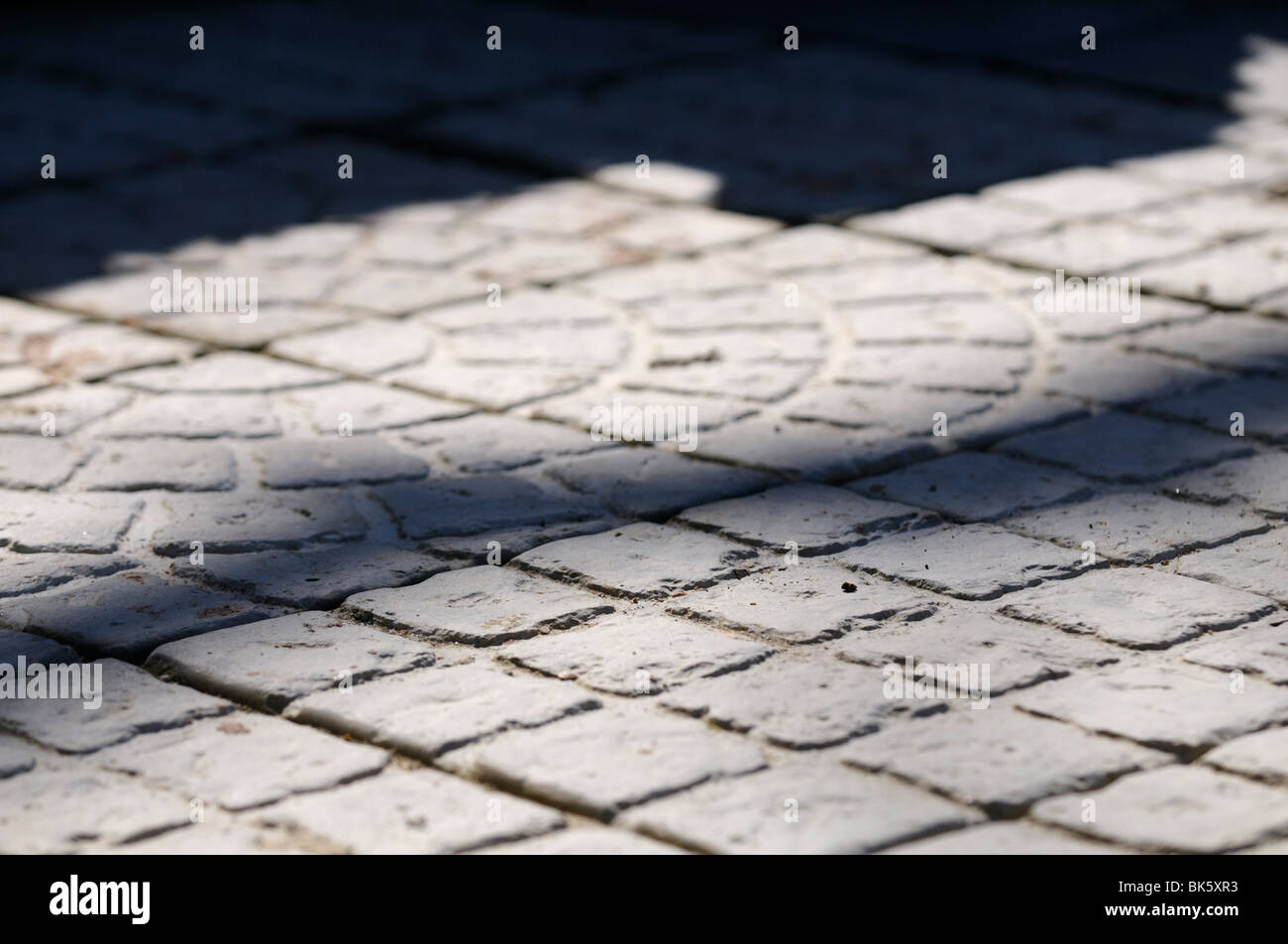 Stock photo of hand made paving slabs. Stock Photo