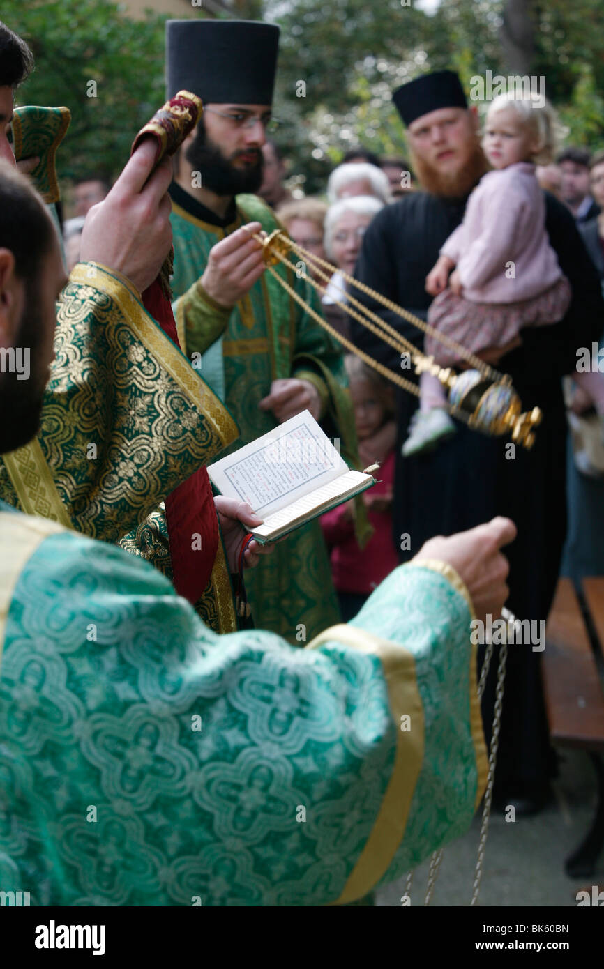 Russian Orthodox celebration, Paris, Ile de France, France, Europe - Stock Image