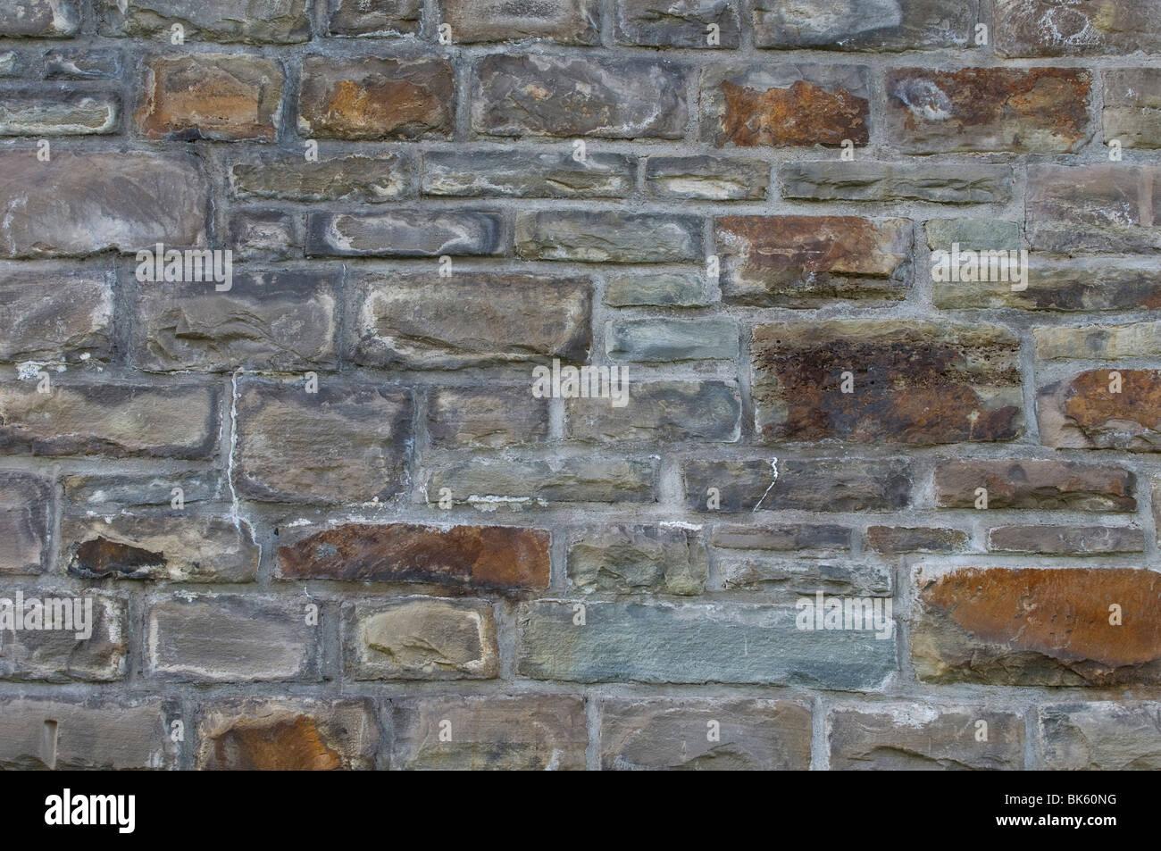 Stone wall, full frame, background - Stock Image