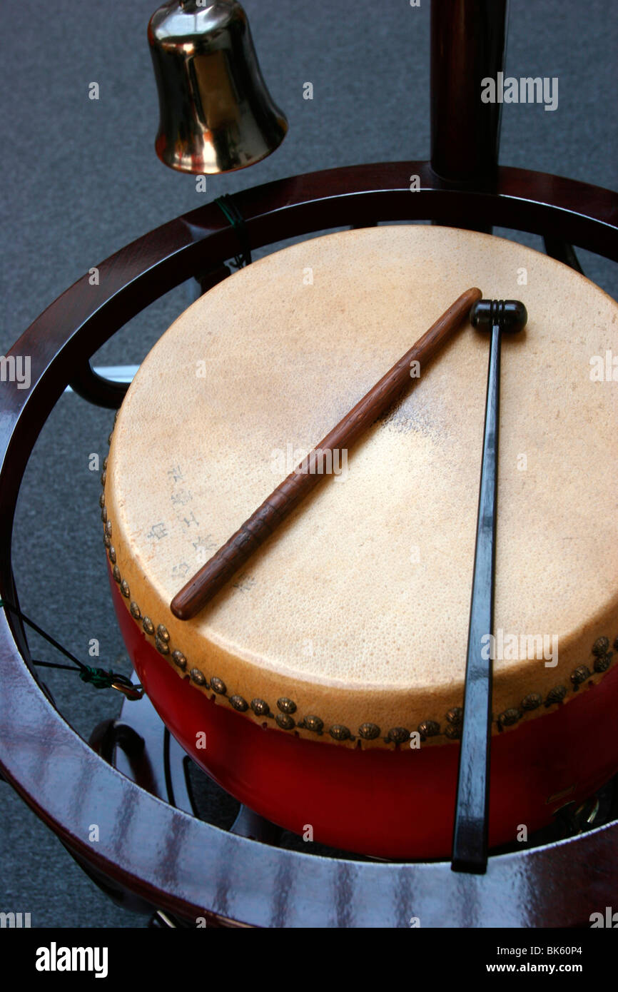 Drum and bell, Paris, France, Europe - Stock Image