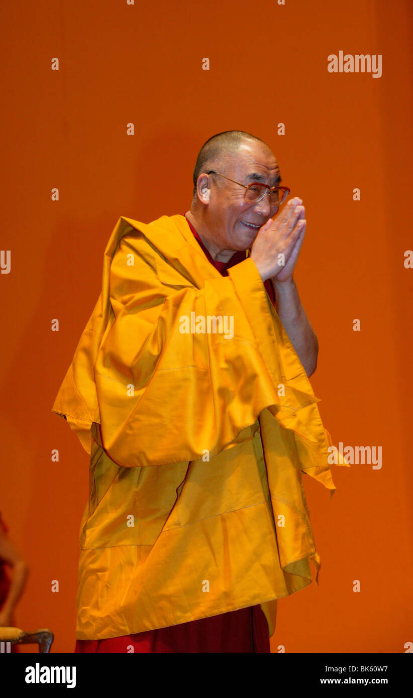 H.H. Dalai Lama at Paris-Bercy, Paris, France, Europe - Stock Image