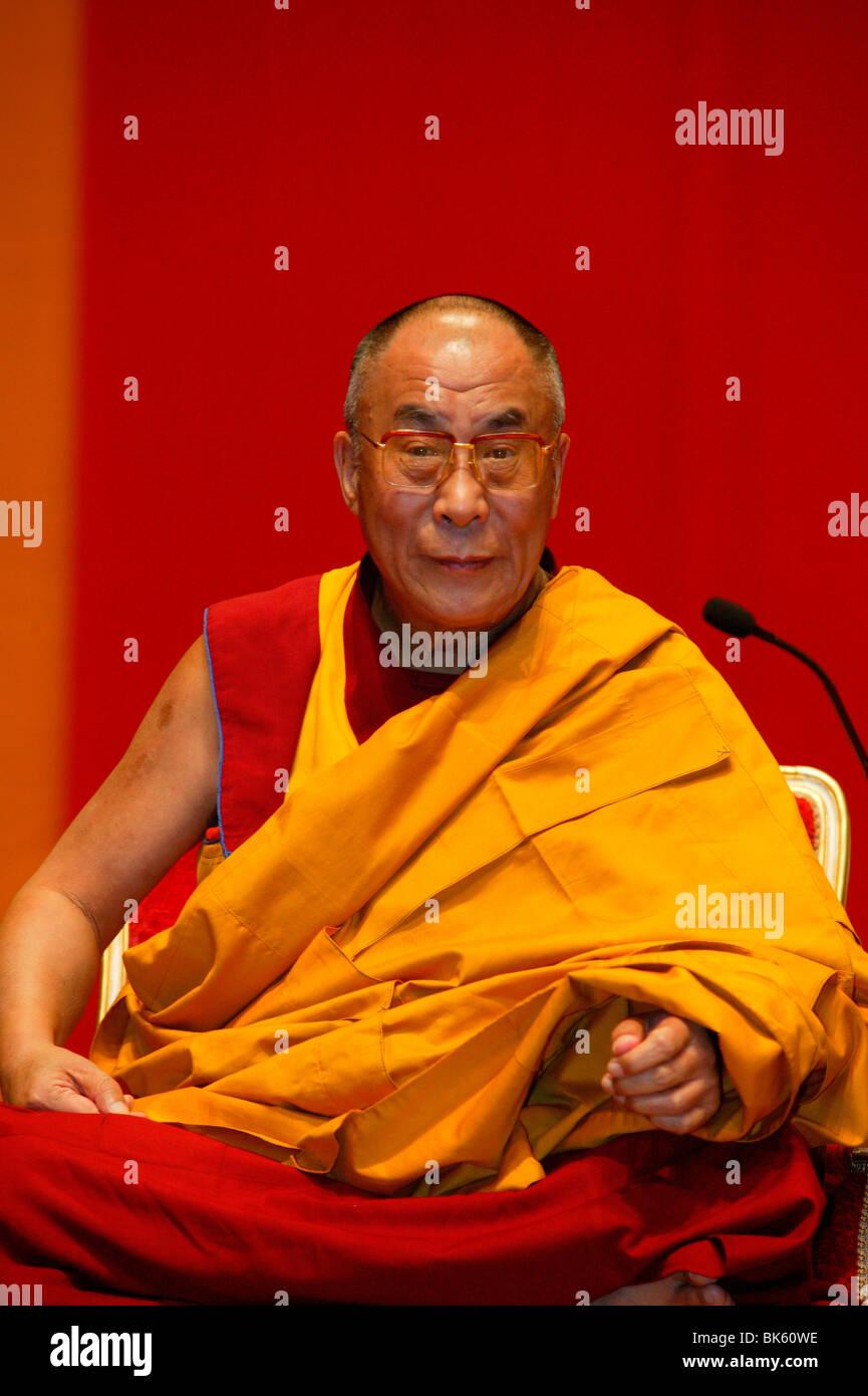 H.H. Dalai Lama, Paris, France, Europe - Stock Image