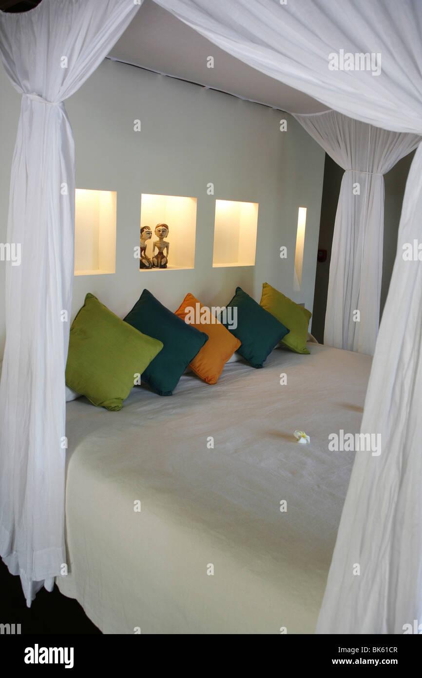 Ubud Hanging Gardens hotel room, Ubud, Bali, Indonesia, Southeast Asia, Asia - Stock Image