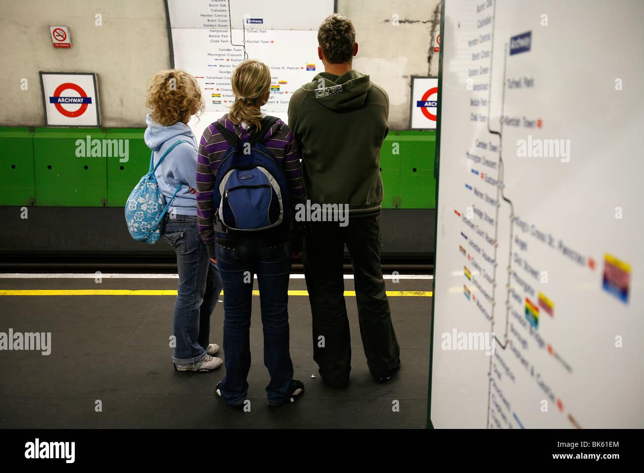 London tube, London, England, United Kingdom, Europe - Stock Image