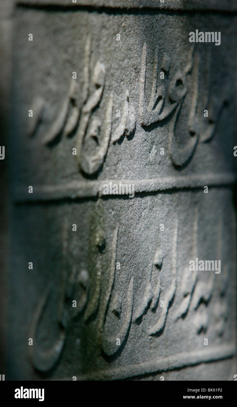Whirling dervish's tombstone, Istanbul, Turkey, Europe Stock Photo