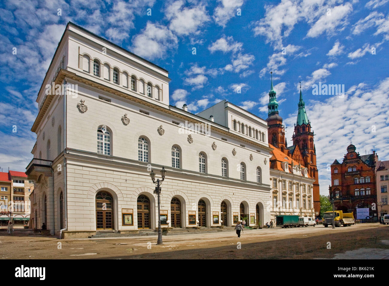 Neo-Renaissance building of the theater in Legnica, Poland - Stock Image